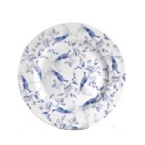 Bluebird Toile Dinner Plate