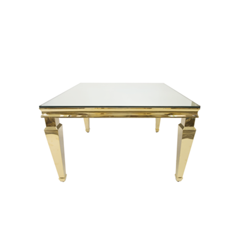 Isabel Gold Square Table