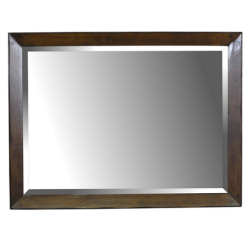 Post & Raid Beveled Mirror