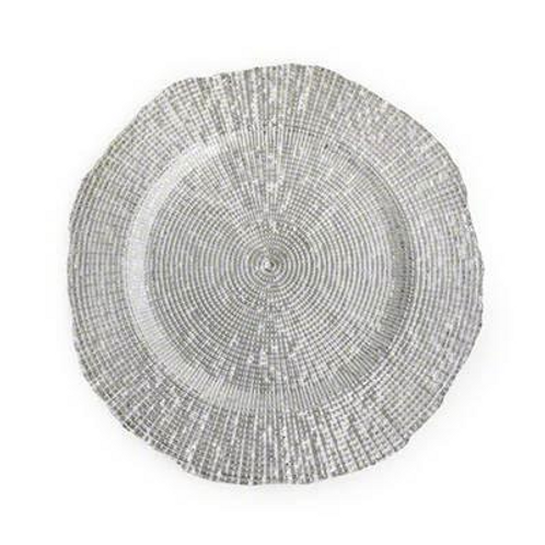 Radiance Silver Glass Charger