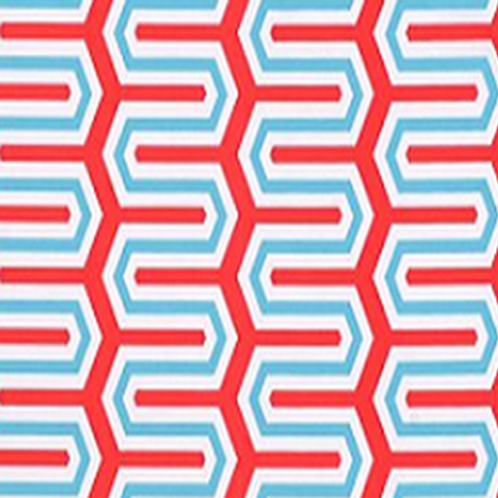 Turquoise & Red Maze