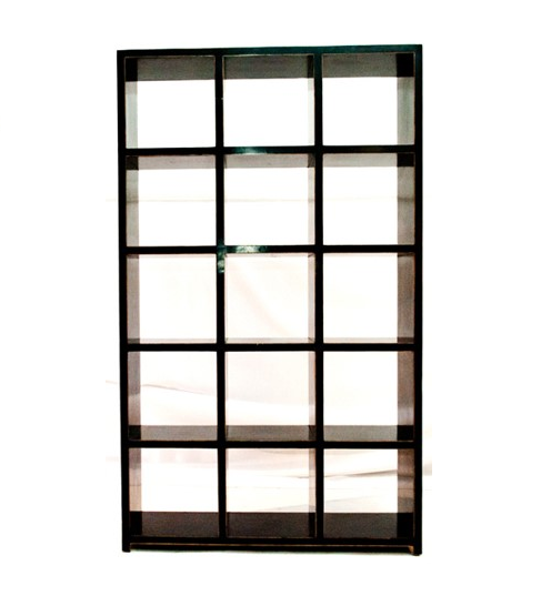 White Open Rack Distressed Bookcase