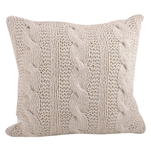 Vanilla Cable Knit Pillow