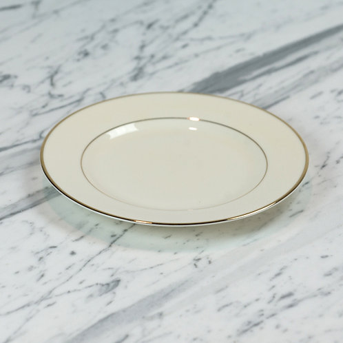 Ivory with Double Gold Band Salad Plate