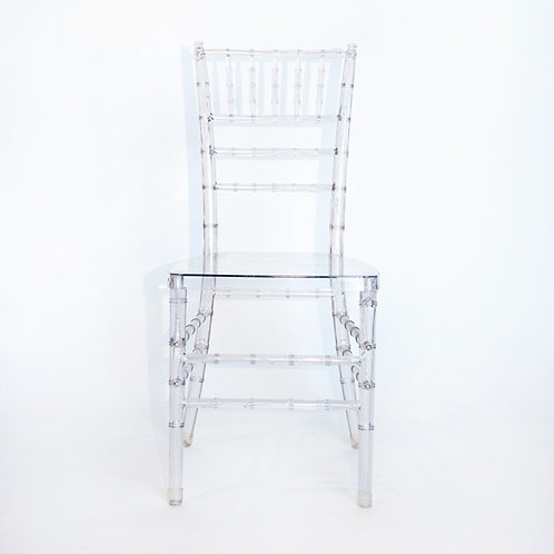 Lucite/Clear Chiavari Chair
