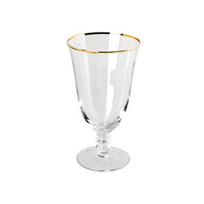 Gold Rimmed Water Goblet