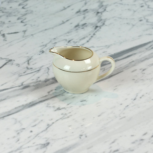 Ivory with Double Gold Band Creamer