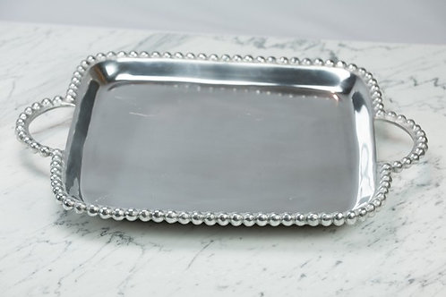 Square Beaded Tray with Handles