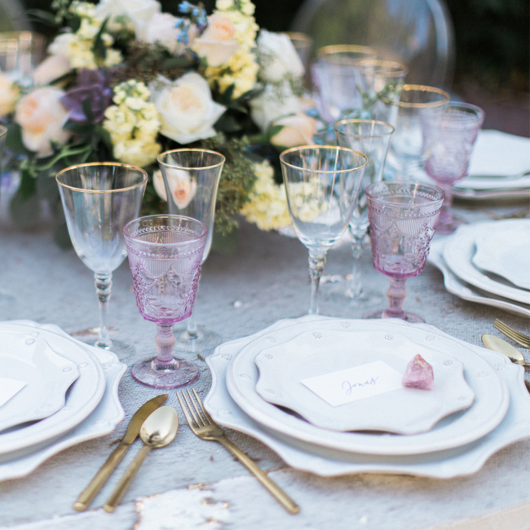Tuscany Rose Goblet
