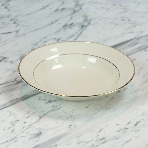 Ivory with Double Gold Band Soup Bowl