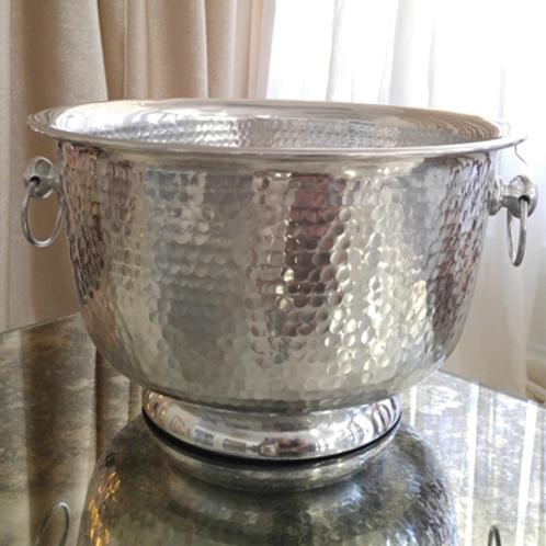 Round Hammered Wine Bucket