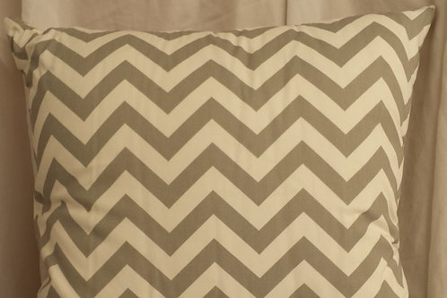 Silver and White Zig Zag