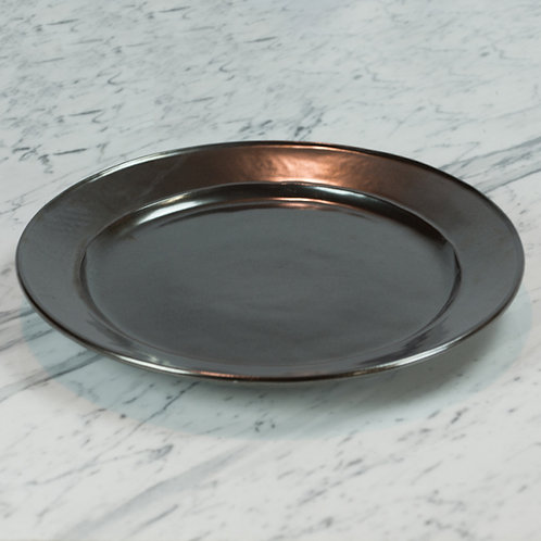 Pewter Stoneware Charger