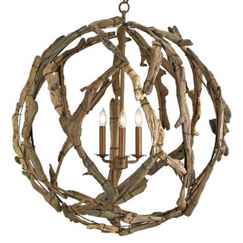 Driftwood Orb Pendant