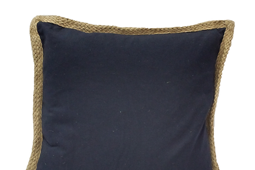 Lake Geneva Navy Pillow