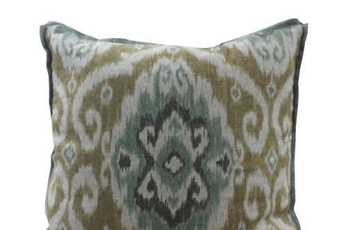 Spa and Saffron Ikat Pillow