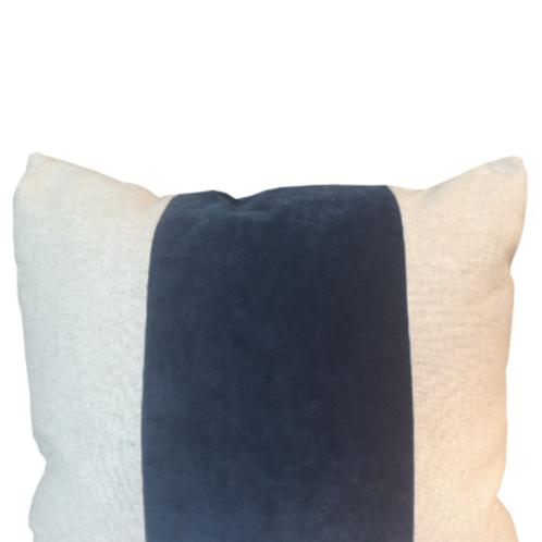Navy Velvet with Linen
