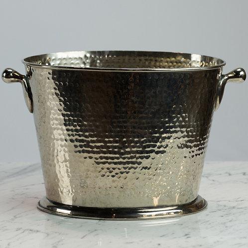 Oval Hammered Wine Bucket
