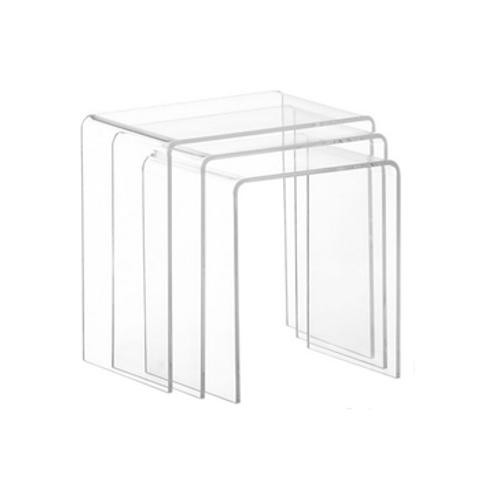 Clear Nesting Tables, set of 3