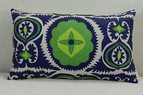 Navy/Emerald Applique Rectangular