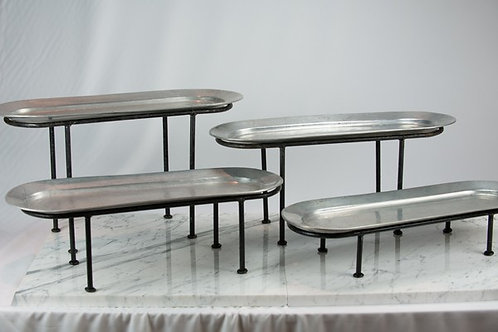 Pewter Oblong Tiers