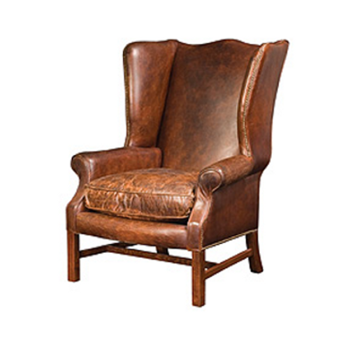 Harrison Leather Wingback Chair