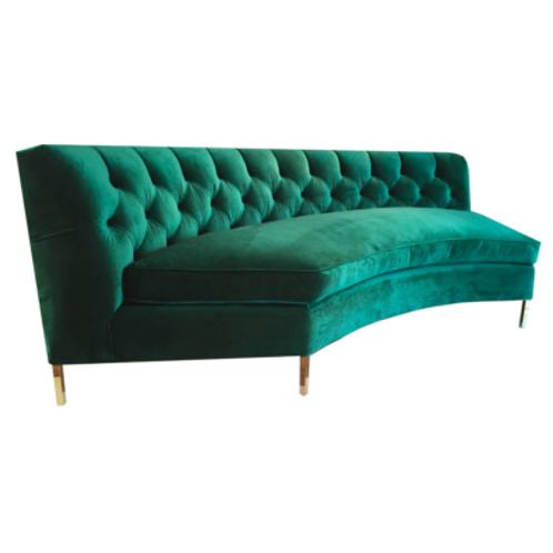Mademoiselle Sofa in Emerald Velvet