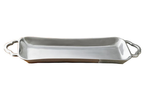Contemporary Rectangle Tray with Handles