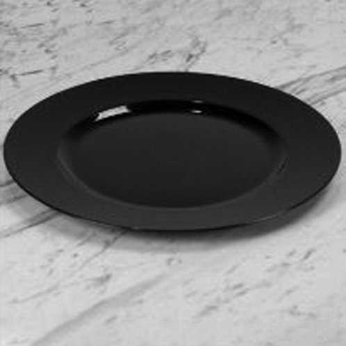Black Round Charger