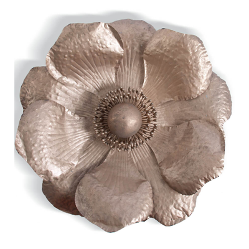 Large Rose Gold Anemone Wall Decor