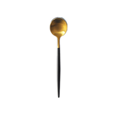 Brushed Gold & Black Teaspoon