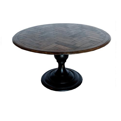 Herringbone Top Pedestal Table