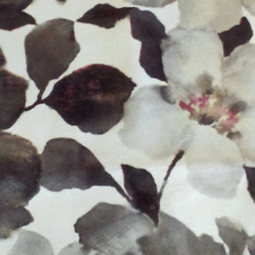 Floral Velvet Grey