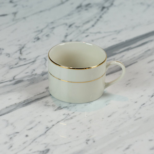 Ivory with Double Gold Band Coffee Cup
