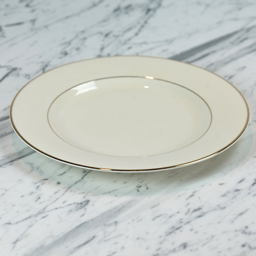 Ivory with Double Gold Band Dinner Plate