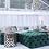 Thumbnail: Square Ottoman in Emerald Velvet