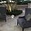Thumbnail: Grey Velvet Tufted Wingback Chair