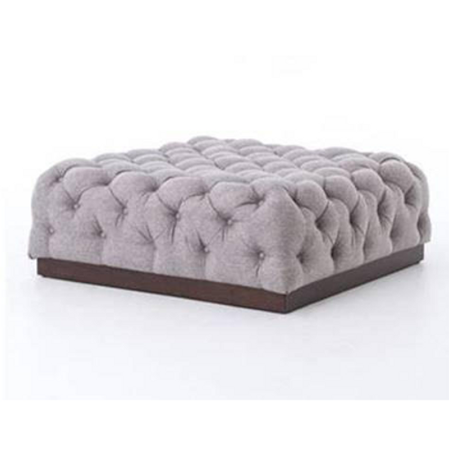 Pewter Cocktail Ottoman