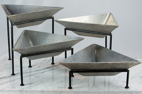 Pewter Triangle Tiers