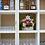 Thumbnail: White Open Rack Distressed Bookcase