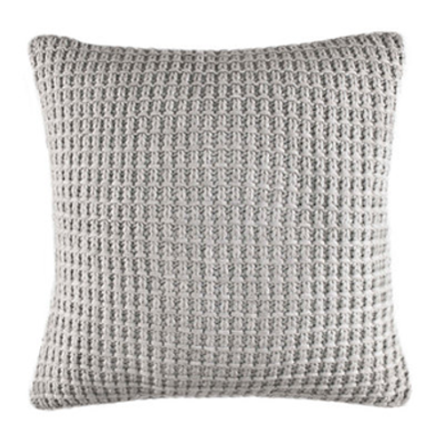 Heather Grey Knit Pillow