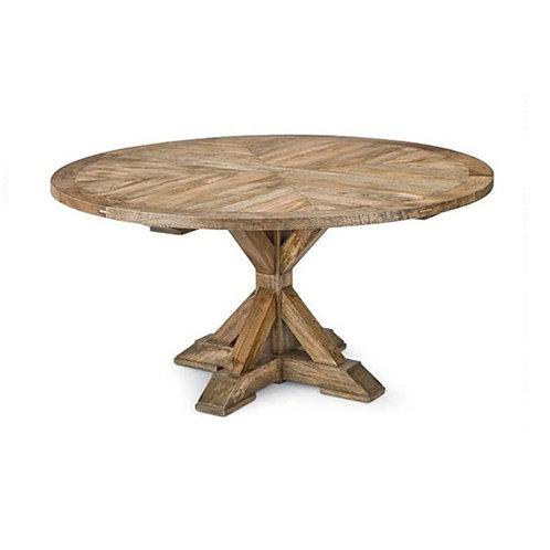 Parquet Top Pedestal Table