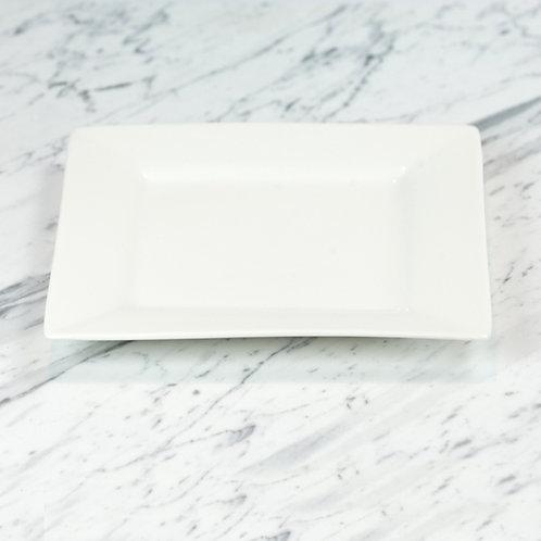 White Square Dinner Plate