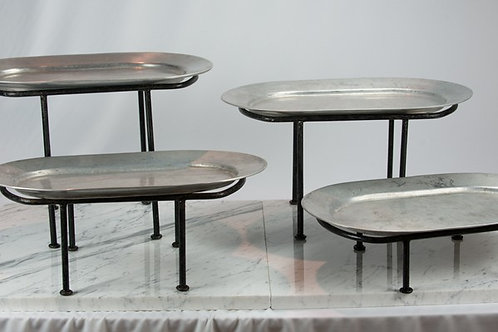Pewter Oval Tiers
