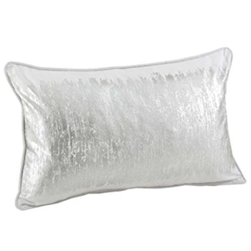 Metallic Silver Lumbar Pillow