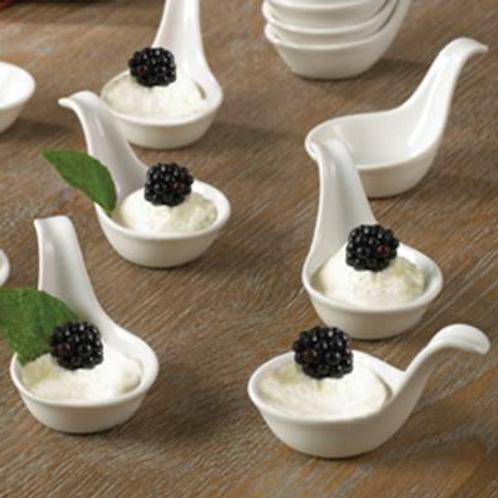 Petite Ceramic Appetizer Spoon