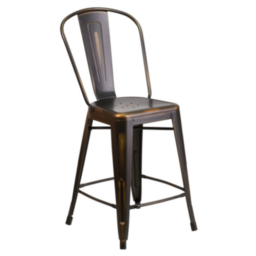 Copper Counter Height Barstool