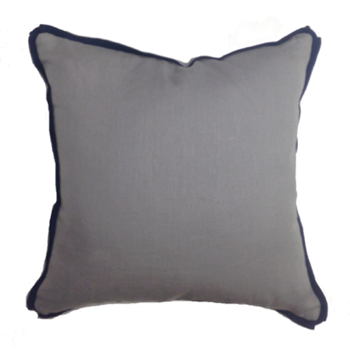 Gray & Navy Pillow