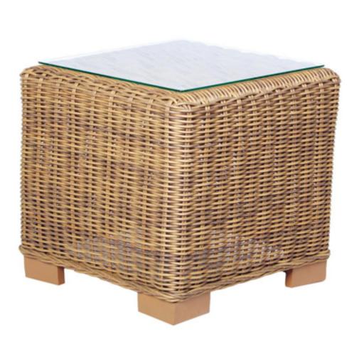 Palmetto Rattan Side Table