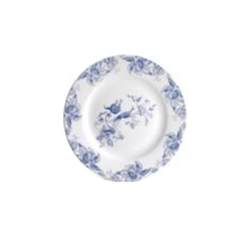 Bluebird Toile Salad Plate